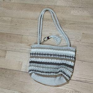 Crochet macrame purse